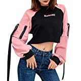 Aberimy Crop Pullover Damen Mädchen Teenager Pulli Kapuzenpullover Hoodie Reißverschluss Mode Herbst Winter Sport Casual Sweatshirt Crop Tops Kapuzenpulli Oberteile Shirts Sweatjacke