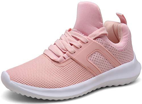 DENGBOSN Uomo Donna Scarpe da Ginnastica Corsa Sportive Running Leggero Fitness Palestra Sneaker,XZ666-pink-EU39