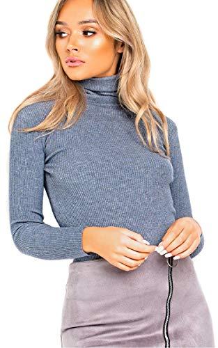 IKRUSH Women's Andi Zip-Up-Faux Wildleder-Rock in Grey Size 12