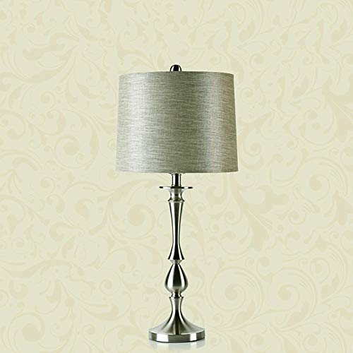 HYCy Modern Einfach Silber Rostfreier Stahl Tischleuchte Schlafzimmer Wohnzimmer Nachttisch Zuhause Licht FDB0070 -