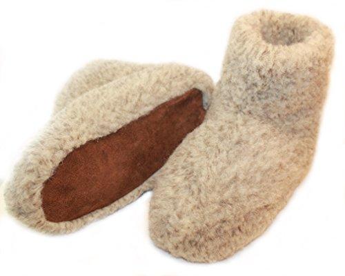 Chaussons ou Pantoufles h/f Hauts en Laine de Mouton Double épaisseur