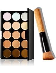 FAMILIZO 15 colores de maquillaje cepillo del maquillaje Corrector Contorno + Paleta