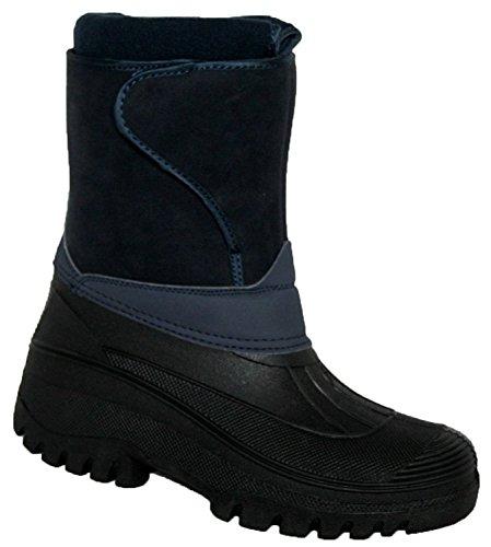 Groundword Paire de bottes imperméables et stables pour femme Bleu