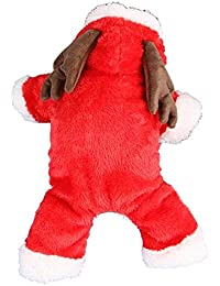 starter Ropa para Mascotas - Alces Rojos De Navidad Engrosada Ropa para Mascotas, Ropa De