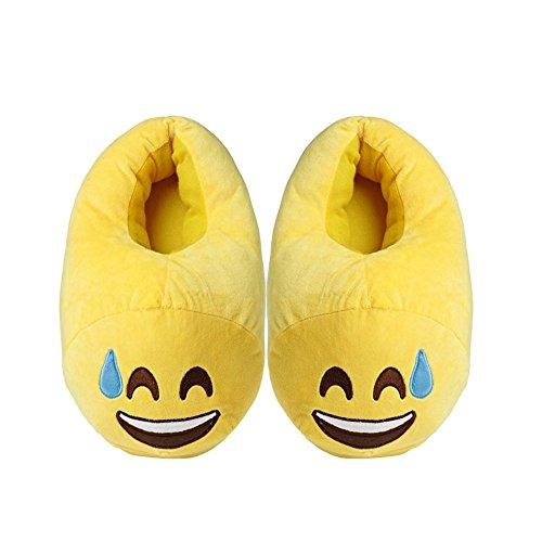SUNYOU Unisex Emoticon Pantoffeln Plüsch Winter Warme Hausschuhe Schweiß