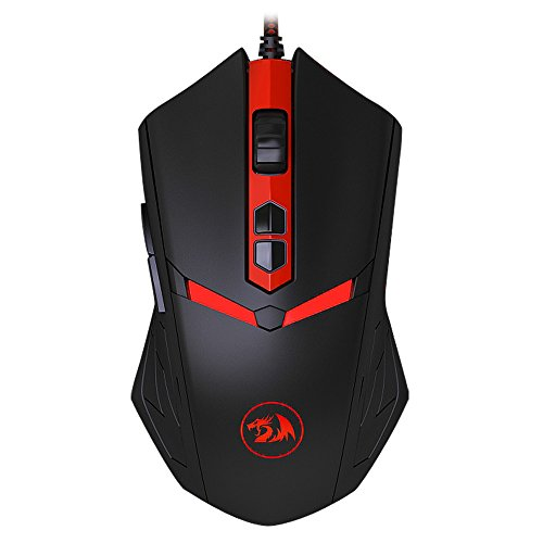 redr Agon nemeanlion M602 7 tasti Gaming Mouse Wired USB mouse ottico topi 3000 DPI per Pro Gamer & Ufficio (Nero)