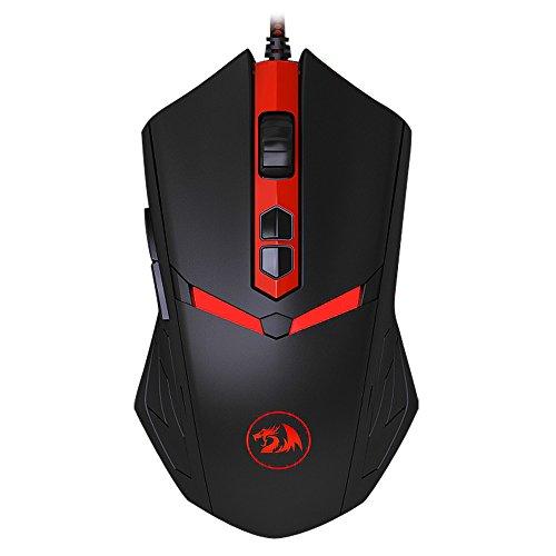 redr Agon nemeanlion M6027tasti Gaming Mouse Wired USB mouse ottico topi 3000DPI per Pro Gamer & Ufficio (Nero)