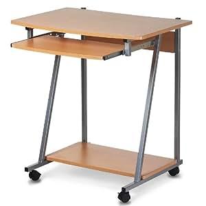 Scrivania tavolo porta pc computer su ruote casa studio for Porta pc da scrivania