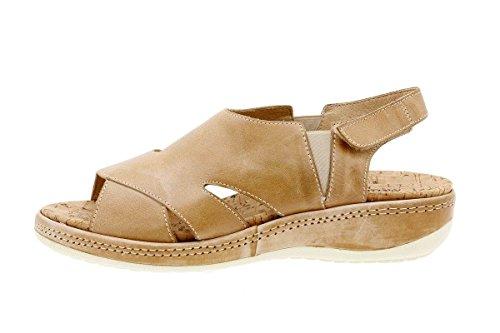 Sandalo In Pelle Da Donna Piesanto Comfort 1903 Sandalo Con Plantare Removibile Comodo Ampio Beige