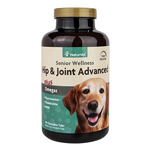 NaturVet Senior Wellness Hip & Joint Advanced Plus Omega für Hunde, Kautabletten, Made in USA