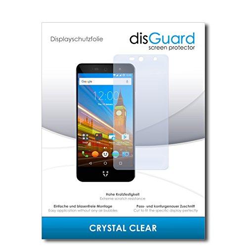 disGuard® Displayschutzfolie [Crystal Clear] kompatibel mit Wileyfox Swift 2X [2 Stück] Kristallklar, Transparent, Unsichtbar, Extrem Kratzfest, Anti-Fingerabdruck - Panzerglas Folie, Schutzfolie