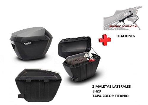 KIT SHAD fijacion+ maletas laterales tapa c. titanio