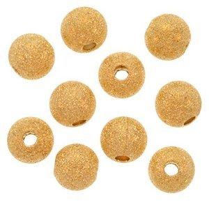 Five Season 8mm Stardust Sparkle Round Bead Caps placcato in oro lucido (circa 25)