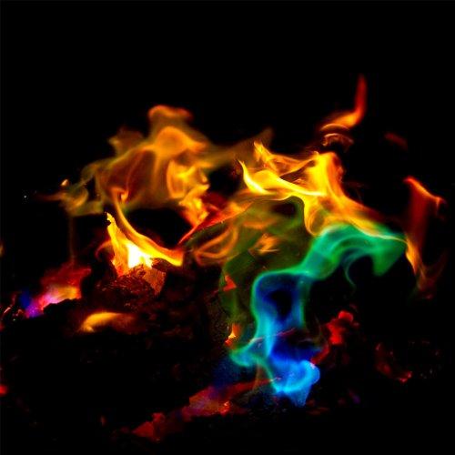 ERRO Achtung Giftig: Mystical flames, magisches Flammenpulver 10er Set, Pulver für farbige Flammen