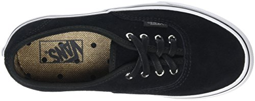 Vans Authentic, Baskets Basses Mixte Enfant Noir (Suede black/tweed dots)
