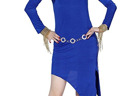 Tanzen Accessories Tanzen Taille Bund Runder Kristall Bauchtanz Taille Gürtel (Halloween Kostüme Arabischen Dancer Belly)