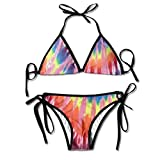 Bikini Swimwear Great Tie Dyestuff Womens Tie Side Bottom Bikini Suits Two Pieces Swimwear