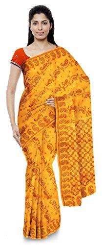 Neelam Sarees Women's Pure Banarasi Silk Saree (Yellow)