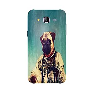 Back cover for Samsung Galaxy J3 Astronut Pug