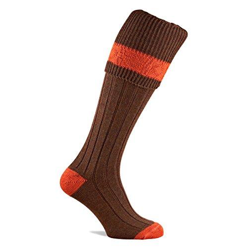 Pennine der Byron 80% Premium Wolle Shooting Socken–Jagd Breeks Strümpfe Gr. XL, Pecan (Pecan Bekleidung)