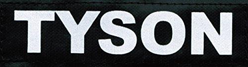 tyson-2-x-logotipi-grande-5x16cm-bianco-riflettente-per-julius-k9-sport-cinofilo-powerharness