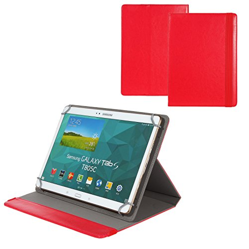 BRALEXX Universal 10 Zoll Tablet Tasche passend für Blaupunkt Enterprise 1020CH, Rot