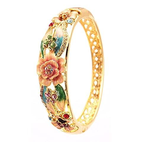 City Ouna® Rose or coloré en alliage plaqué bracelet Bracelet pour les femmes/filles avec bijoux de mariage cristal Saint Valentin,cadeau de Noël