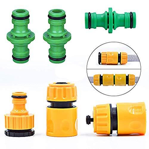 FEIGO Gartenschlauch Adapter Set 1/2 Zoll Schlauchverbinder für Gartenschlauch Kupplung Schnellkupplung zur Schlauchverlängerung - Kompatibel Flexibler Gartenschlauch
