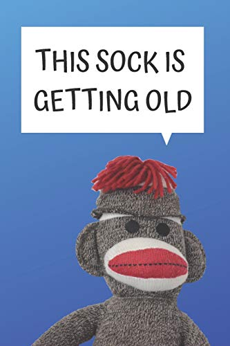 OLD BLANK LINED NOTEBOOK JOURNAL: A daily diary, composition or log book, gift idea for people who love sock monkeys!! ()