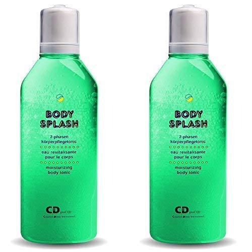 Body Splash 2-Phasen Körperpflegetonic - Feuchtigkeitspflege der besonderen Art, die Ihrer Haut Geschmeidigkeit und Frische verleiht - Classic (grün) / 2er Pack (2 x 200 ml) - La Splash