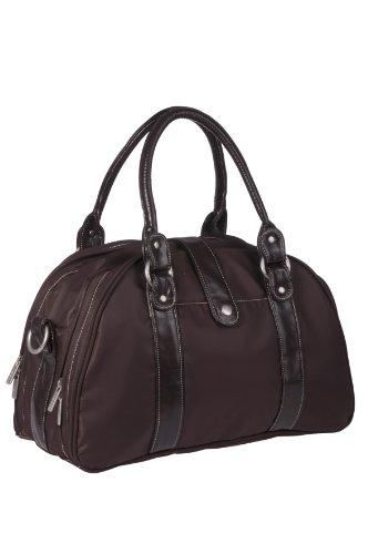 Lässig Glam Shoulder Bag Wickeltasche mit verstellbarem Schultergurt inkl. Wickelzubehör, black choco