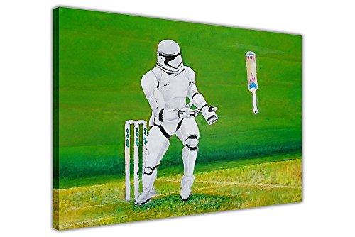 "STAR WARS Stormtrooper Cricket su tela artistica da parete Movie Artwork, 05- A1 - 34"" X 24"" (86cm X 60cm)"