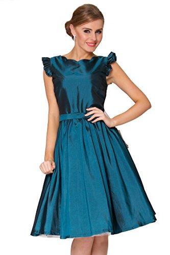 Onorevoli SEXYHER 1950 Vintage Style Petal manica Con Dettaglio increspato Dress Classic - RBJW1612