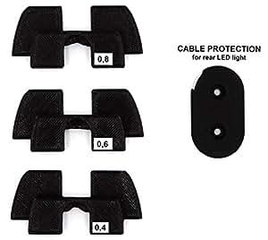 Impression de qualité 3D en Caoutchouc Amortisseur de Vibrations, LED Protection Modification pièces pour Xiaomi Mijia M365M187Trottinette électrique, Noir