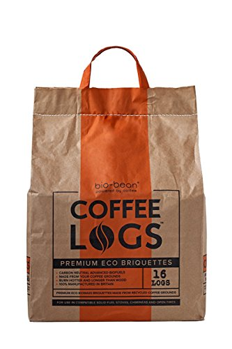 Coffee Logs – 16 WINTER FUEL LOGS MADE FROM RECYCLED COFFEE – FOR A HOTTER & LONGER BURN 41q 2B5ZVvwML
