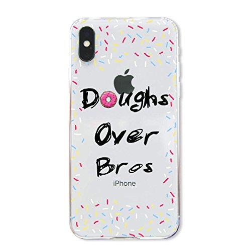 finoo | Iphone X Hard Case Handy-Hülle mit Motiv | dünne stoßfeste Schutz-Cover Tasche in Premium Qualität | Premium Case für Dein Smartphone| Kaugummi Pink Doughs over bros
