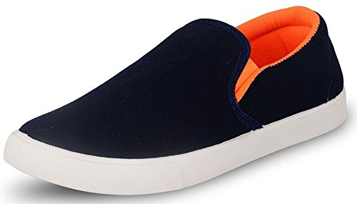 Ethics Perfect Stylish Men's Casual Loafer Shoes (7, Orange)