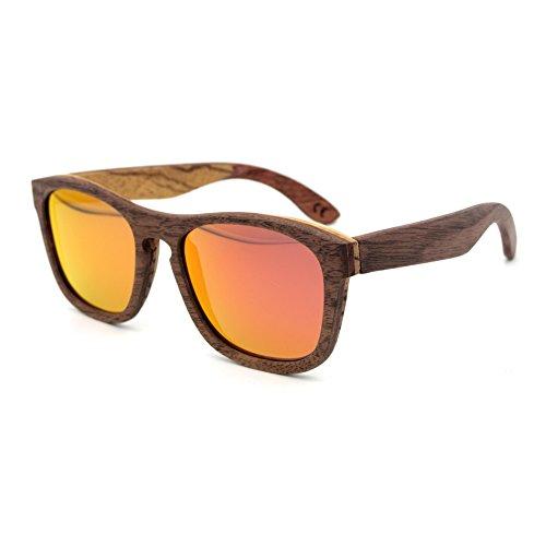 Meijunter Handmade Jahrgang Retro Holz Brille UV400 Brille Unisex Street Mode Eyewear Polarisiert Sonnenbrille