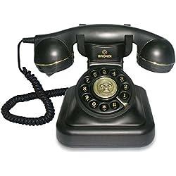 Tiptel Vintage 20 Téléphone Fixe Style rétro Noir