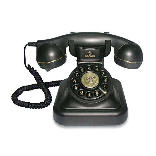 Tiptel Vintage-Telefon 20, Schwarz Schwarzes Telefon