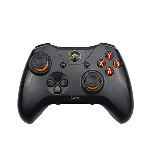ADWITS Programmierbares Gamepad, 3-in-1-USB-Gaming-Controller für Windows PC PlayStation 3 Android, verbessertes ergonomisches Design mit Schulterknöpfen Dual Vibration, Schwarz