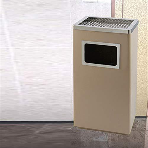 Mülleimer Edelstahl-rechteckiger Küchen-Schritt-Abfalleimer mit Liner-Taschen-Grün-Papierkorb-wirtschaftlichem Abfall-Behälter-Behälter für Bürobadezimmer ( Farbe : C3 , Größe : 30*24*62cm ) (Schritt Mülleimer Mit Liner)