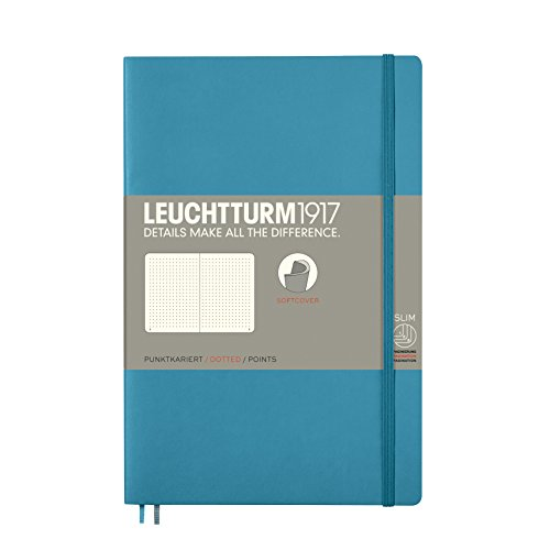 Leuchtturm1917 358315 Notizbuch Softcover Paperback (B6+), dotted, Nordic Blue