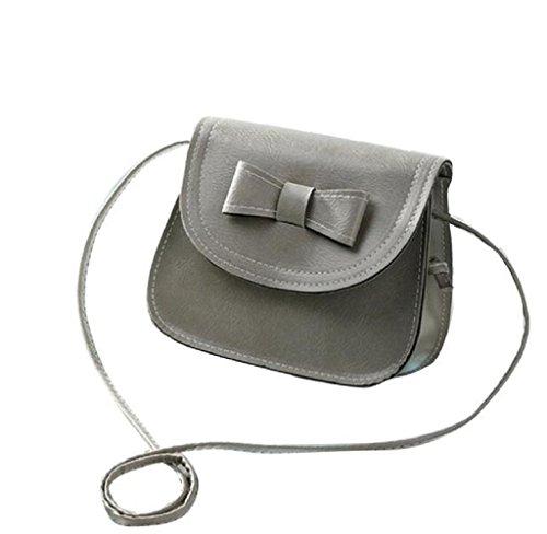 Schultertaschen Damen Telefon Covermason Bowknot Beutel Grau Münzen Umhängetasche Handtaschen Tasche Einzel S7wtq6