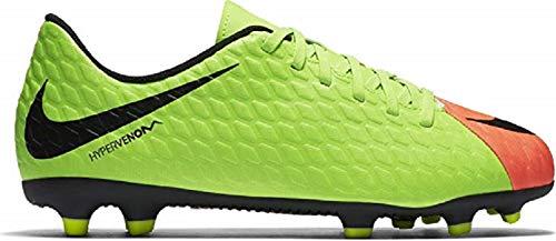 Nike Unisex-Kinder Jr. Hypervenom Phade 3 Fg Fußballschuhe, Grün (Elctrc Green/Black-Hyper Orange-Volt), 35 EU (Nike Hypervenom Grün Kinder)