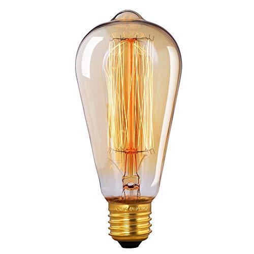 Edison Vintage Glühbirne, CMYK Edison Glühbirne E27 40W Vintage Glühbirne Retro Antike Lampe Ideal für Nostalgie und Retro Beleuchtung im Haus Café Bar usw