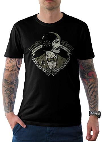 King Kerosin Herren T-Shirt Tee Schwarz Oldschool Edition 08-Gent Rider M -