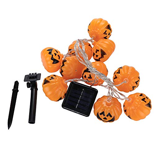 (Prevently Halloween Lichterkette LED Schnurlicht Halloween,Halloween Party Ghost Festival Kürbis Solarenergie Laterne String Dekoration 2,5 m 10 Lichter)