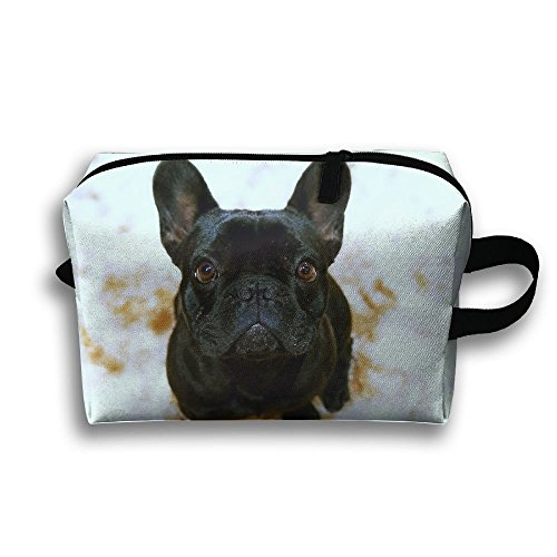 Black Dog Travel Bag Toiletries Bag Phone Coin Purse Cosmetic Pouch Pencil Case Tote Multifunction Organizer Storage Bag - Große Neon Tote Taschen