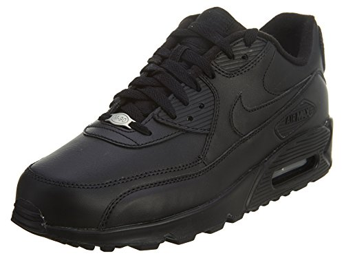 Baskets Nike Air Max 90 En Cuir, Homme Noir (noir / Noir 001)